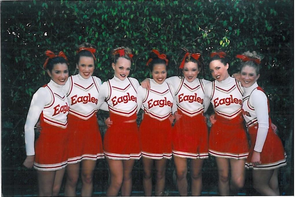 2003 Cheerleaders at Disneyland