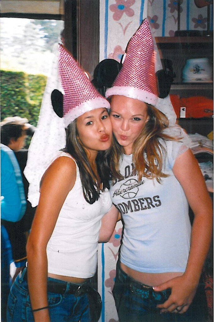 see what i mean with the mid-drifts? | m & i playing princess minnie at disneyland over our senior trip 2003