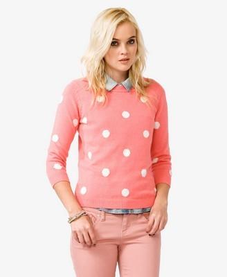 F21 Polka Dot Sweater | $17.50