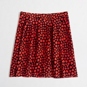 J.Crew Factory Pleated Printed Skirt | $74.50