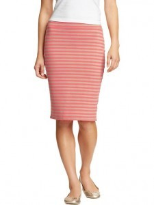 Old Navy Women's Striped Jersey Pencil Skirt | $22.94