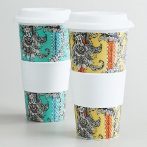 World World Market Paisley Floral Non-Paper Cups | $17.98 for Set of 2