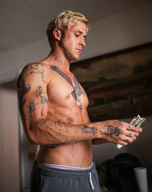 ryan gosling tatted up