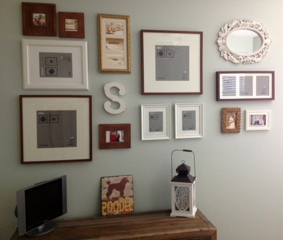 pinterest-inspired frame wall.