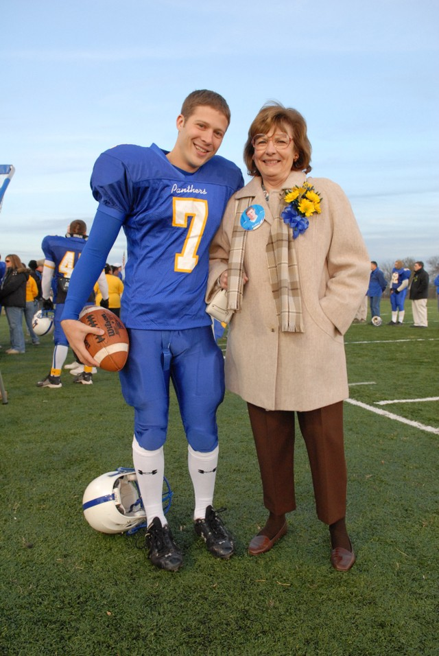 matt's the type of guy who would pose with his grandma.