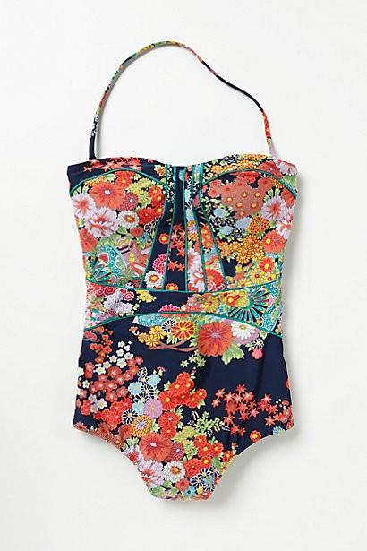 nanette lapore kimono floral seductress one piece.