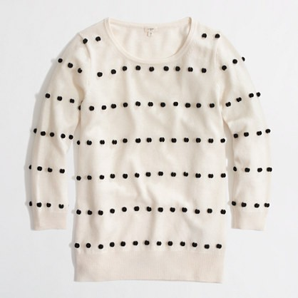 charley sweater in pom-pom dot.