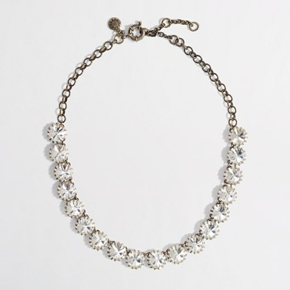 crystal brass-plated necklace.