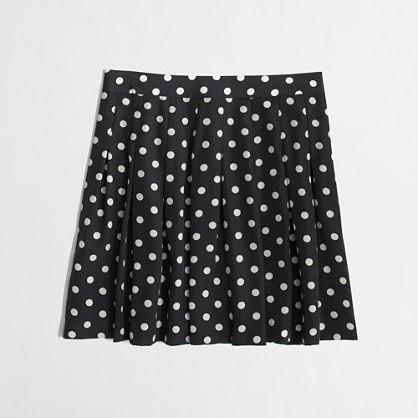 deep navy printed pleated skirt.
