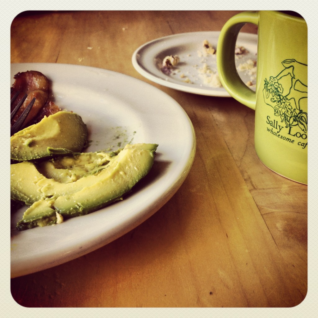 two key components of any good breakfast: avocado & coffee.