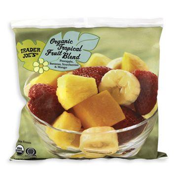 organic tropical fruit blend