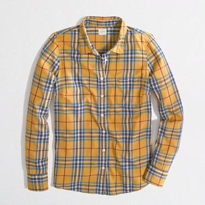 factory classic button-down in flannel | j.crew factory | $64.50