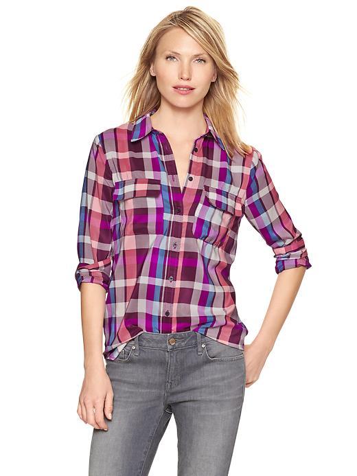 plaid camp shirt | gap | $59.95