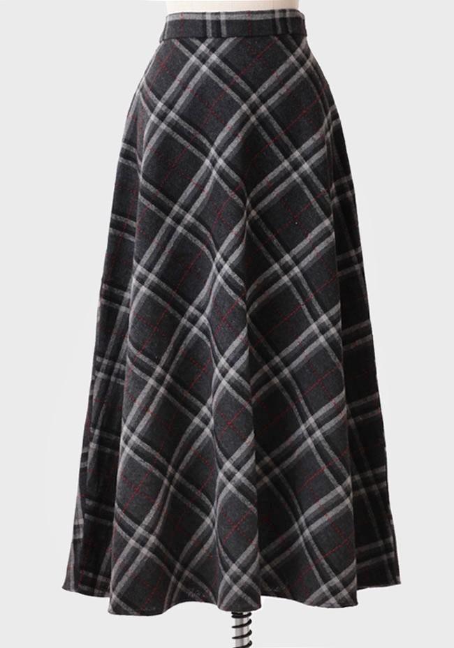 st. margaret plaid maxi skirt | ruche | $36.99