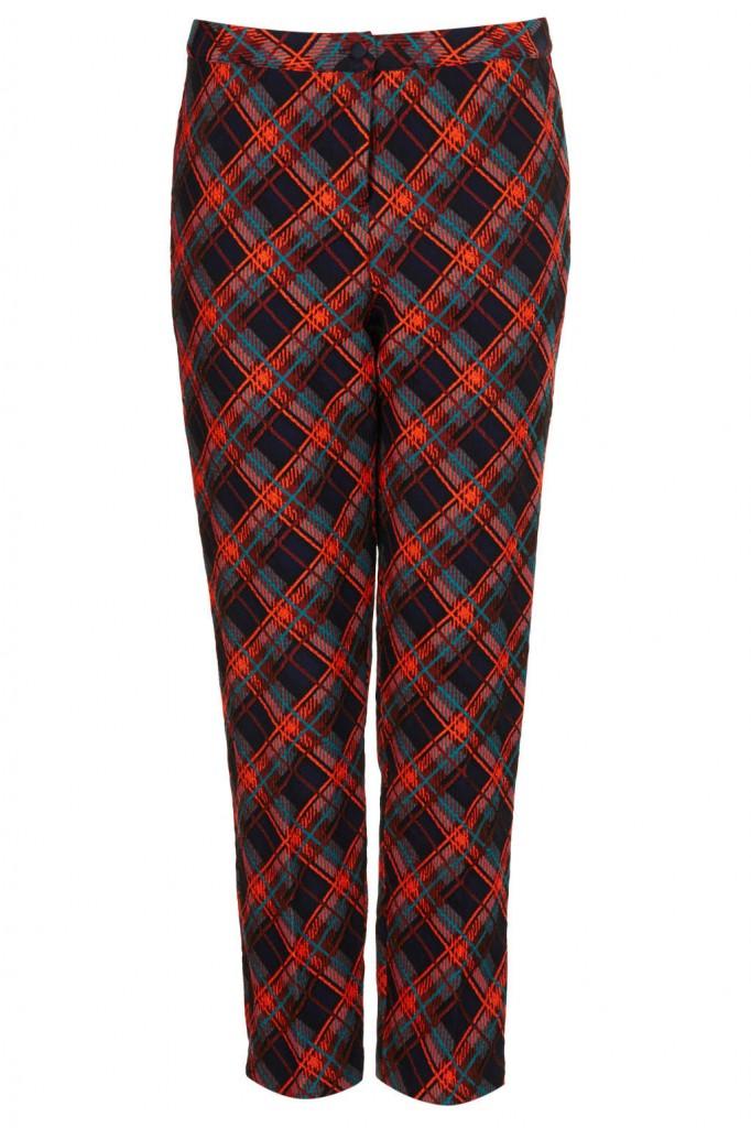 tartan cigarette trousers | topshop | $100.00