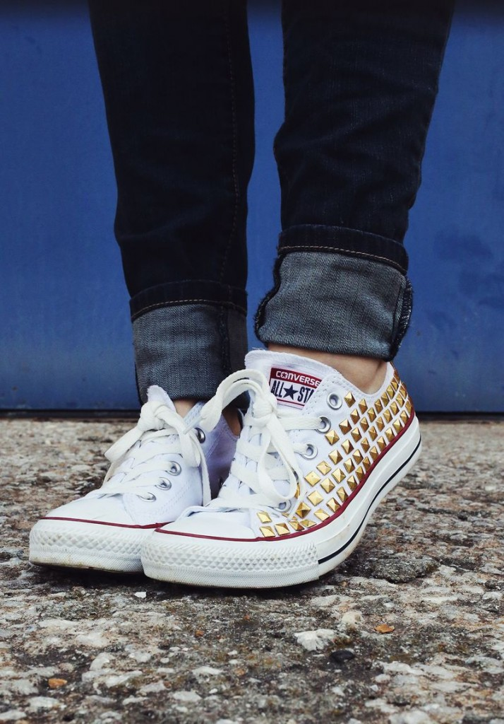 make your own studded converse tutorial.