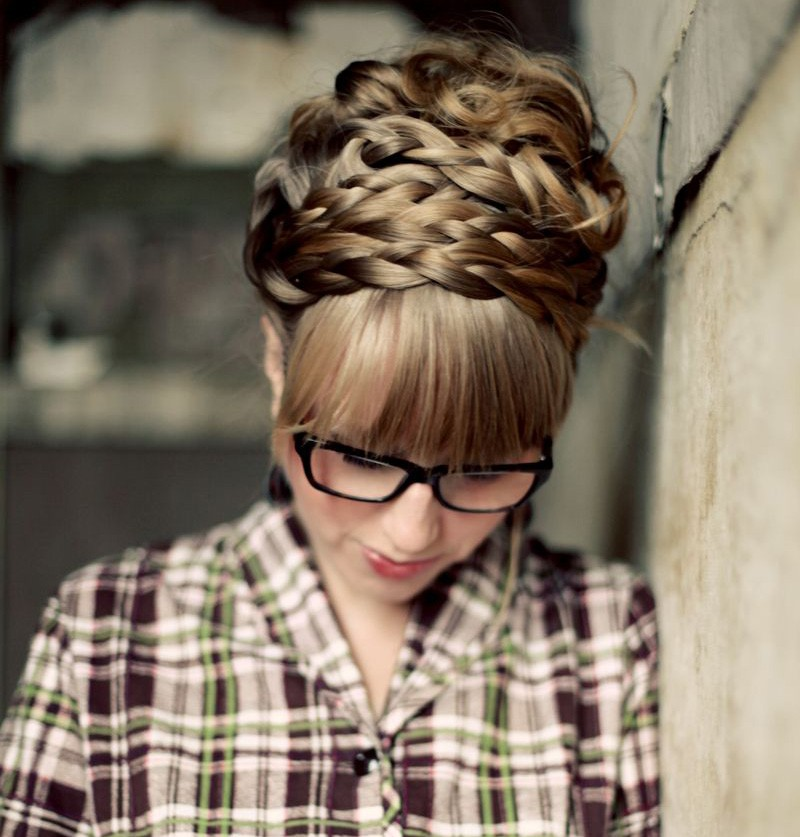 hair tutorial: how to style maiden braids.
