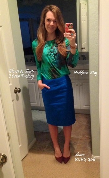 Cobalt blue pencil skirt outfit – Cool novelties of fashion 2017 ...