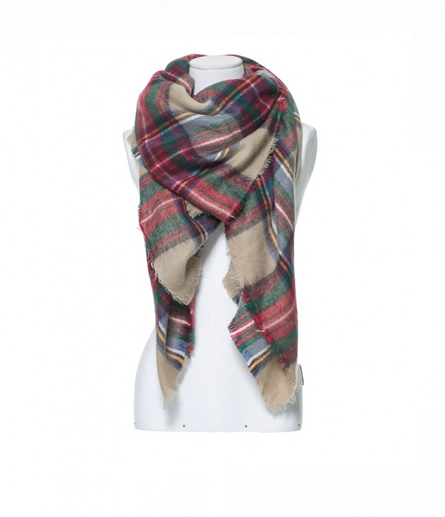 zara plaid scarf