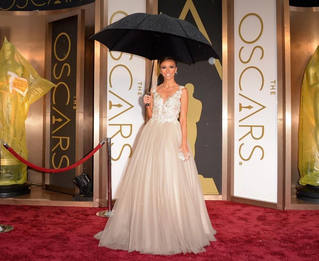 Giuliana rancic 2014 oscars paolo sebastian dress - Image Via Ny Daily Mail