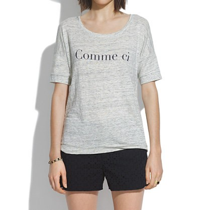 madewell's comme ci comme ca banded tee.