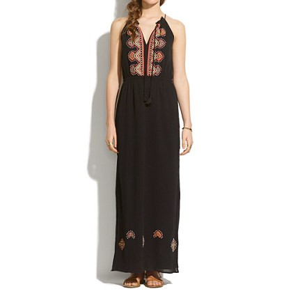 madewell's embroidered kilim maxidress.