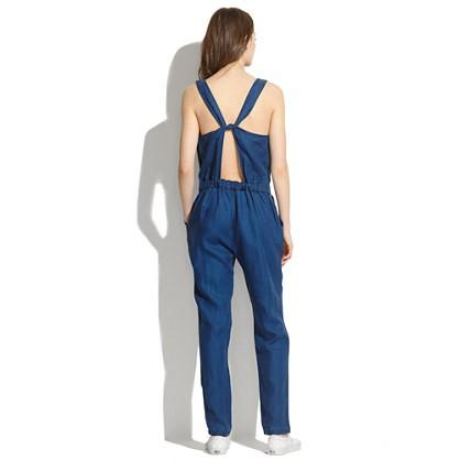 madewell's indigo linen jumpsuit.