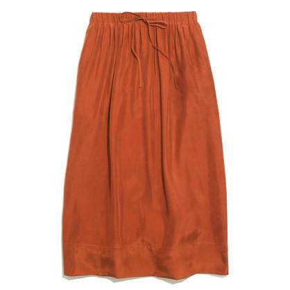 madewell's silk drawstring skirt.