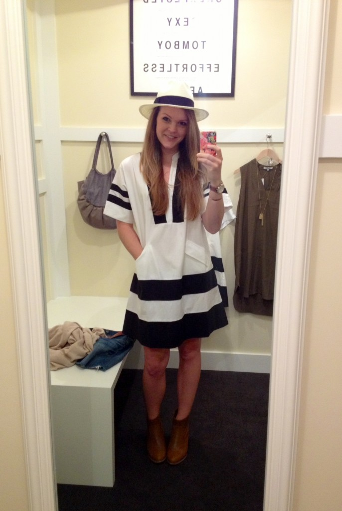 styled madewell poncho dress