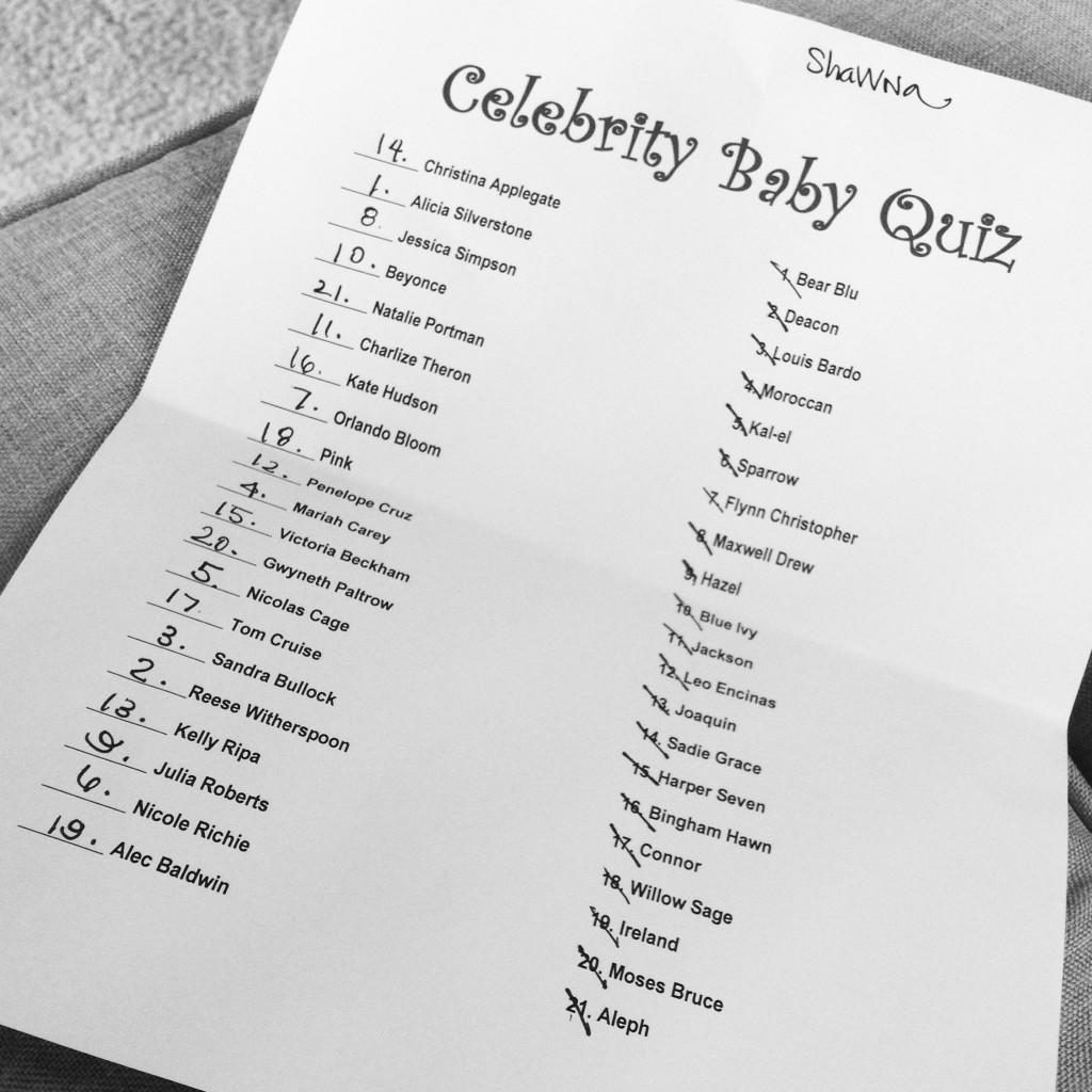 celebrity baby quiz