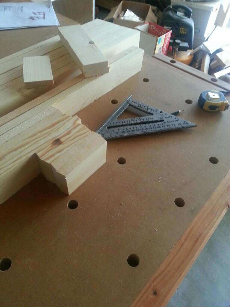 sawhorse desk_before