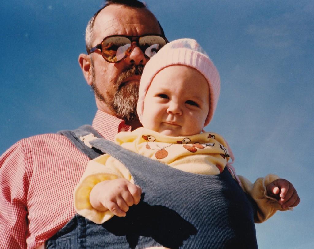 grandpa & me circa 1985 | october 2014.