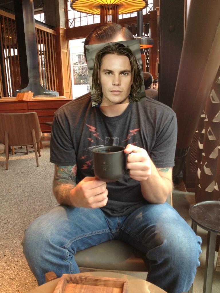 S & his coffee_tim riggins