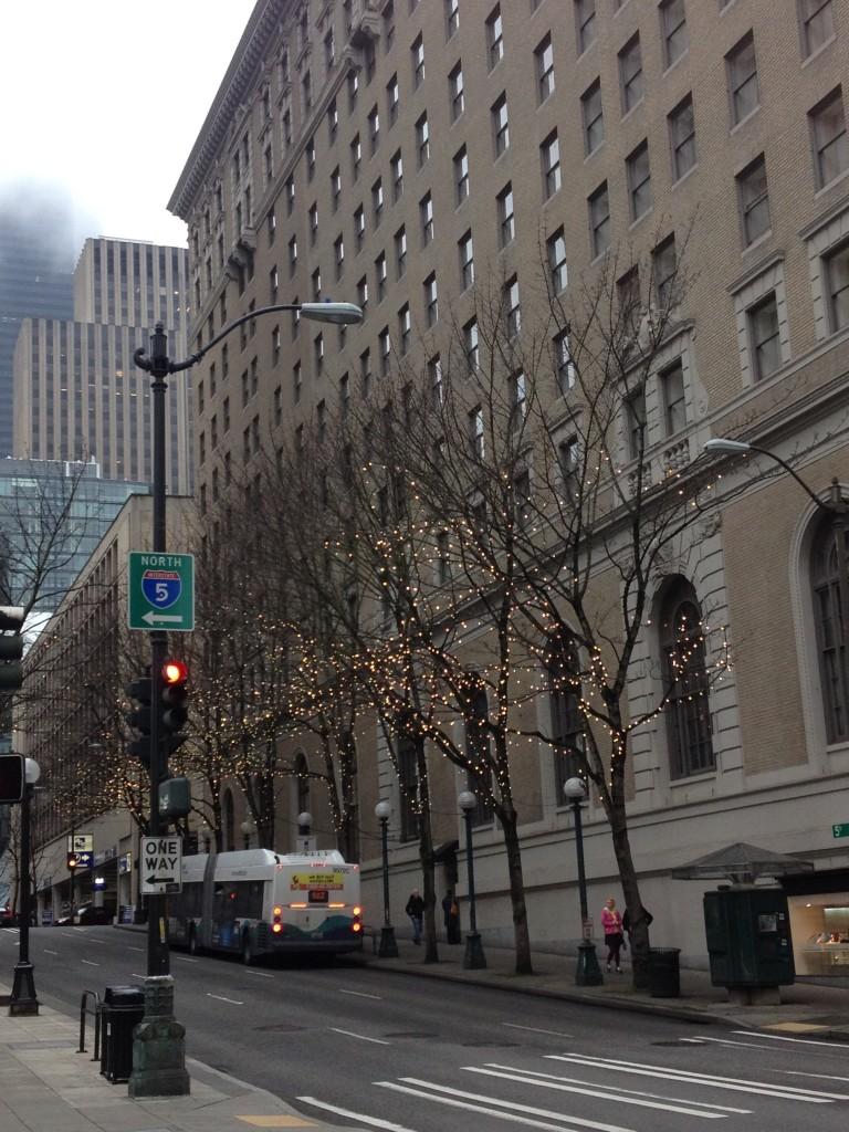 walking down 5th avenue.