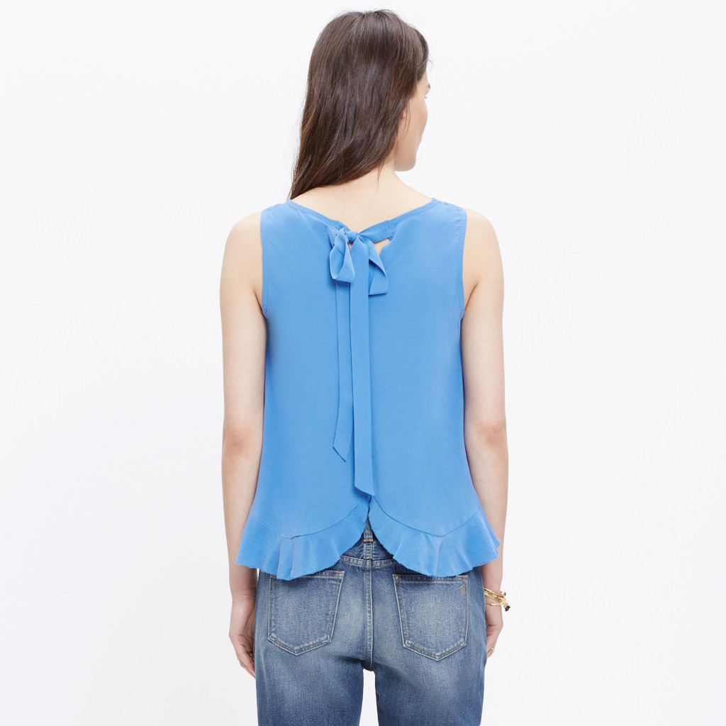 Silk Bow-Back Tank Top