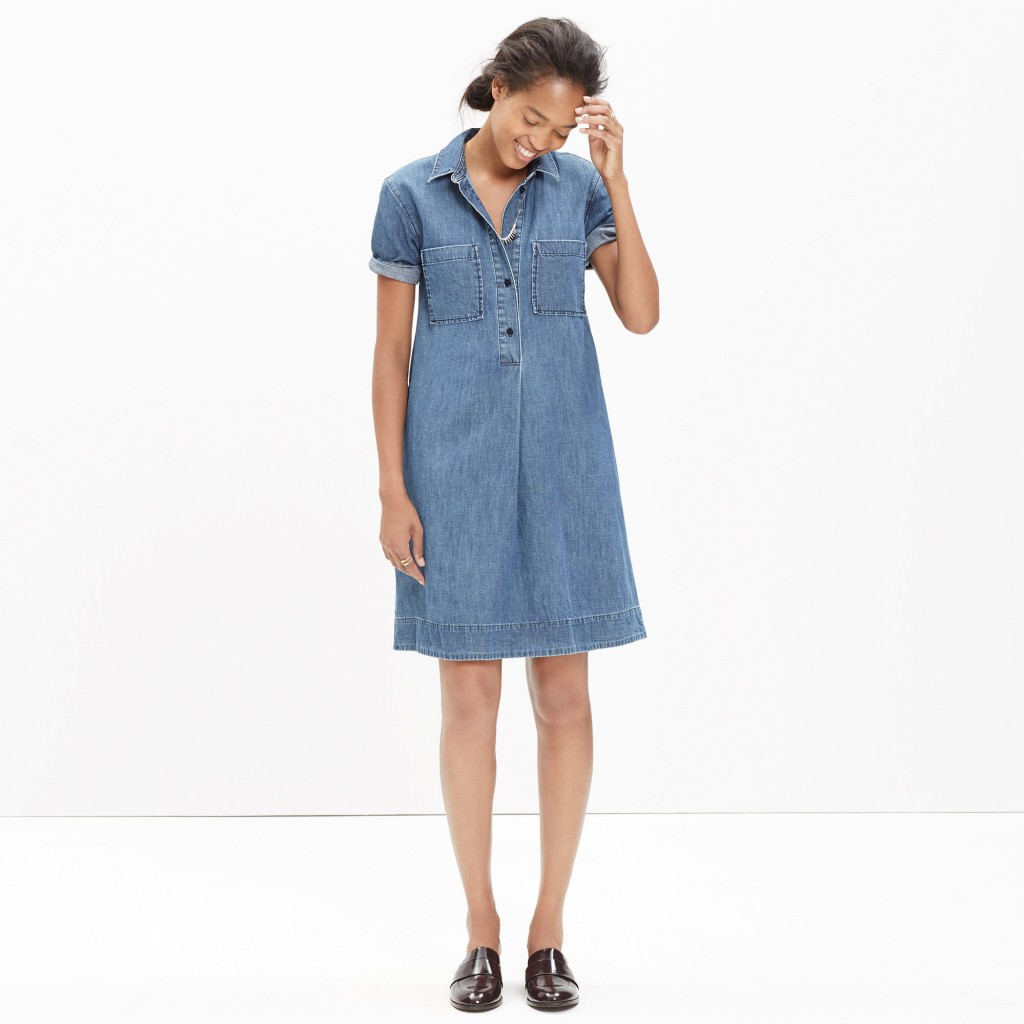 denim popover dress