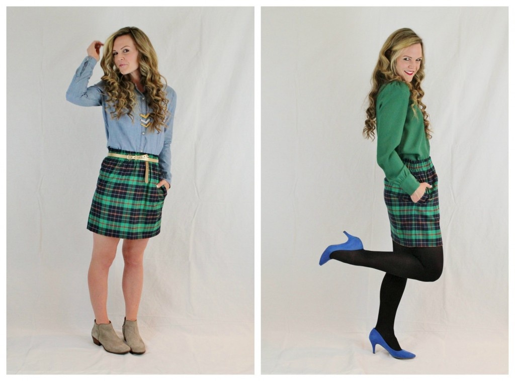 plaid skirt for day & play