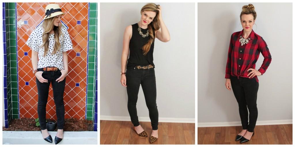 black skinny jeans3ways