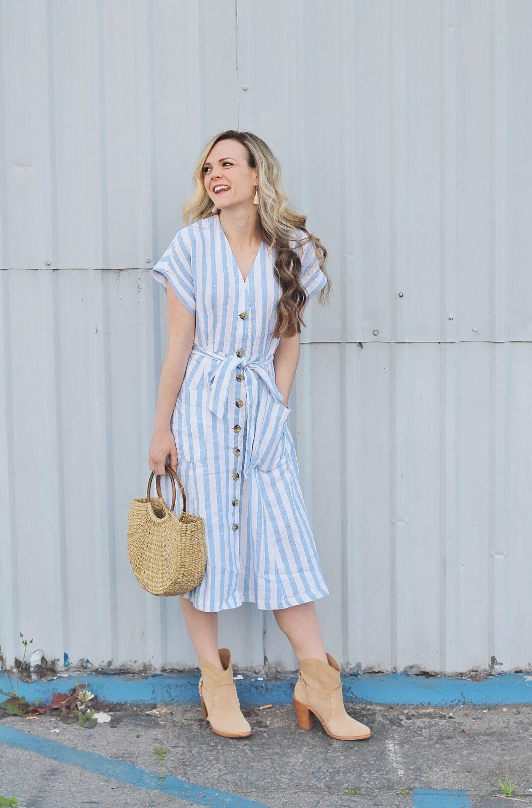 bfd244aec079 the perfect striped midi dress