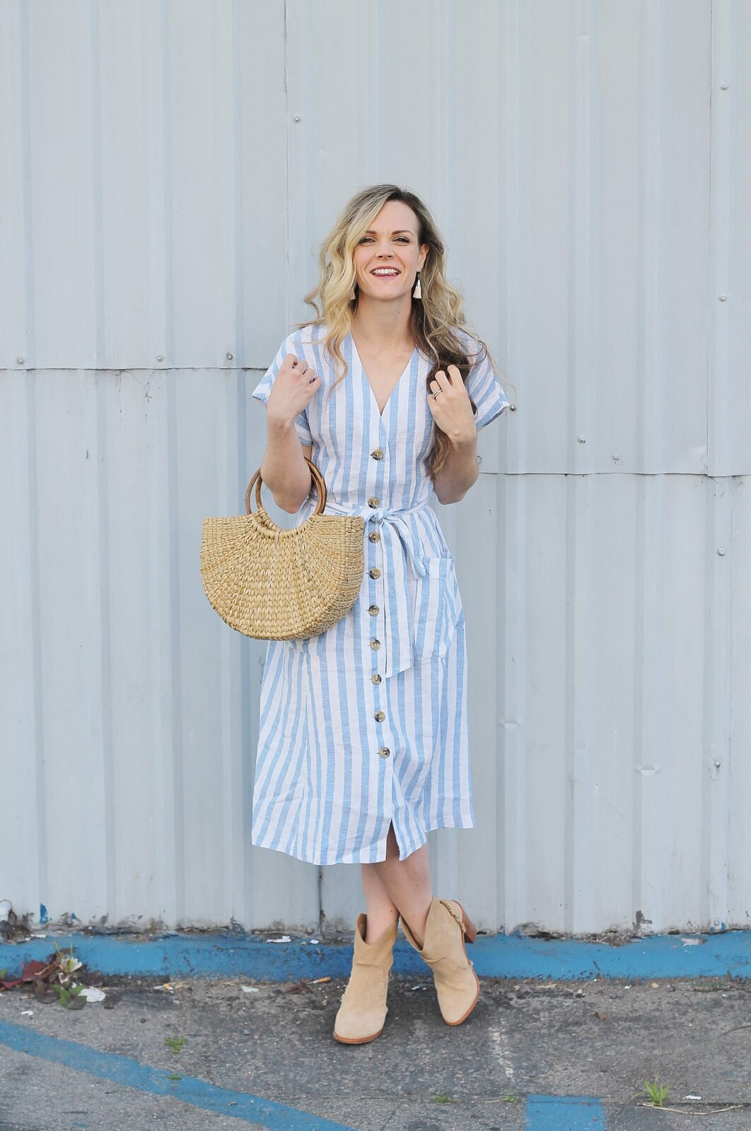The Perfect Striped Midi Dress